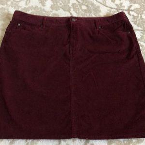 Eddie Bauer pencil corduroy skirt